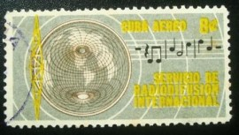 Selo postal de Cuba de 1962 International radio service