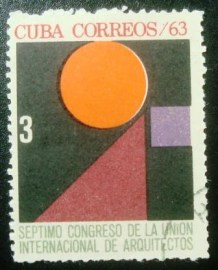 Selo postal de Cuba de 1963 International Architectural Congress