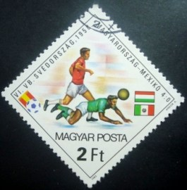 Selo postal da Hungria de 1982 Football World Cup Spain 1982