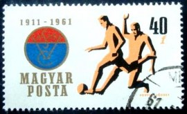 Selo postal da Hungria de 1961 Vasas Sports Club