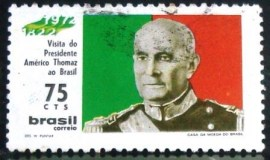 Selo postal do Brasil de 1972 Presidente Thomaz - C 727 U