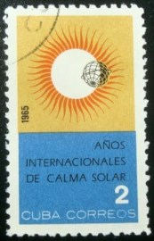 Selo postal da Cuba de 1965 International Quiet Sun Year