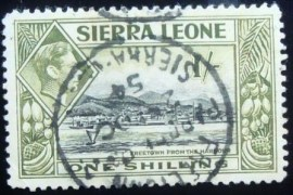 Selo de Serra Leoa de 1938 Freetown Harbour