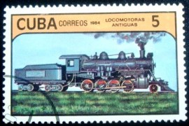 Selo postal de Cuba de 1984 Steam Locomotive 5