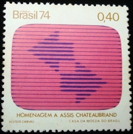 Selo postal do Brasil de 1974 TV