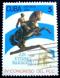 Selo postal de Cuba de 1991 Cuban Communist Party
