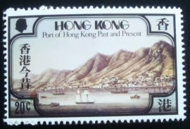 Selo postal de Hong Kong de 1982 Port of Hong Kong