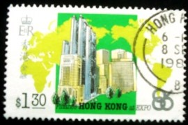 Selo postal de Hong Kong de 1986 Finance