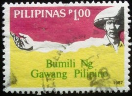 Selo postal das Filipinas de 1987 Buy Filipino Movement