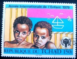 Selo postal da Rep do Tchade de 1979 Children