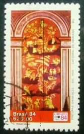 Selo postal do Brasil de 1984 Pinturas Chinesicies 620
