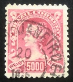 Selo postal Regular de 1906 Princesa Isabel - 151 U