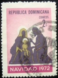 Selo postal da Rep. Dominicana de 1972 The Holy Family