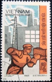 Selo postal do Vietnam de 1970 Stoker & Power Station