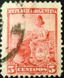 Selo postal Argentina 1899 Allegory Liberty Seated
