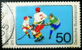 Selo postal da Alemanha de 1975 Ice Hockey 1975 World Championship