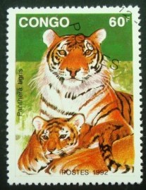 Selo postal do Congo de 1992 Tiger