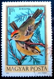 Selo postal Hungria 1973 Common Firecrest