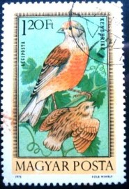 Selo postal Hungria 1973 Common Linnet