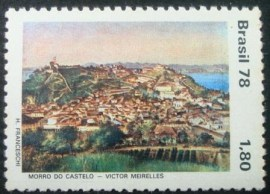 Selo postal do Brasil de 1978 Morro do Castelo
