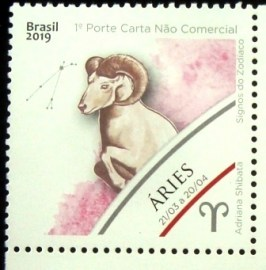 Selo postal do Brasil de 2019 Aries