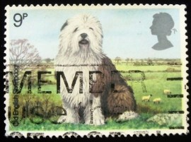 Selo postal do Reino Unido de 1979 Old English Sheepdog