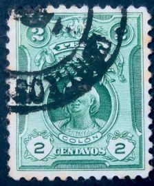 Selo postal do Peru de 1909 Christoph Columbus