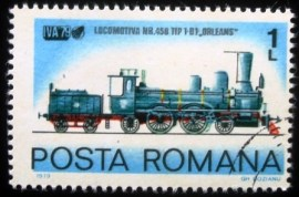 Selo postal da Romênia de 1979 Steam Engine Nº 458 Type 1-B 1 Orleans