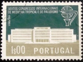Selo postal de Portugal de 1958 Institute for Tropical Medicine