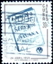 Selo postal de Cuba de 1959 Day of the Stamp