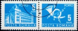Se-tenant da Romênia de 1970 Post and Telecommunications II