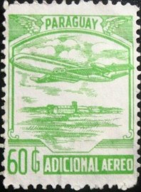 Selo postal do Paraguai de 1988 Airplane