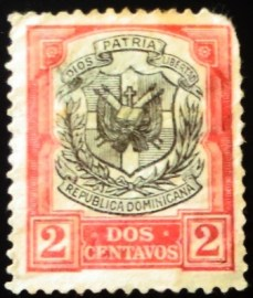Selo postal da Rep. Dominicana de 1911 Coat of Arms