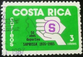 Selo postal da Costa Rica de 1985 Football Club Saprissa