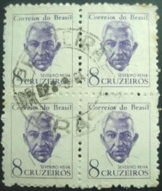 Quadra de selos postais do Brasil de 1963 Severino Neiva