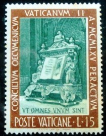 Selo postal do Vaticano de 1966 Gospel