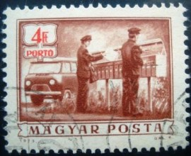 Selo postal da Hungria de 1973 Rural mail delivery