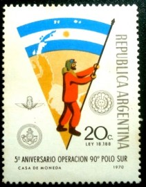 Selo postal da Argentina de 1971 Antarctic Expedition
