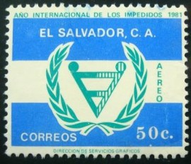 Selo postal de El Salvador de 1981 Year of Disabled People