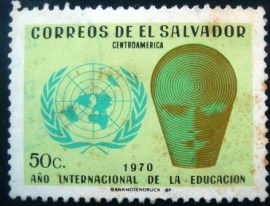 Selo postal de El Salvador de 1970 Education Year