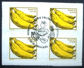 Quadra de selos postais do Brasil de 1997 Banana