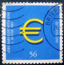 Selo postal da Alemanha de 2002 Introduction of Euro Currency - 2144 U