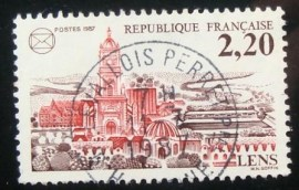 Selo postal da França 1987 French Federation of Philatelic Societ