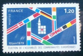 Selo postal da França 1979 Assembly of the European Communities