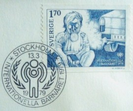 Envelope FDC da Suécia de 1979 Year of the Child