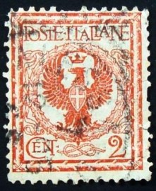 Selo postal da Itália de 1901 Eagle and ornaments 2