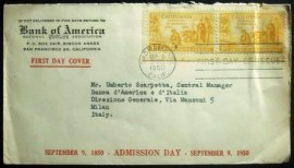 FIRST DAY COVER dos Estados Unidos de 1950 Bank of America