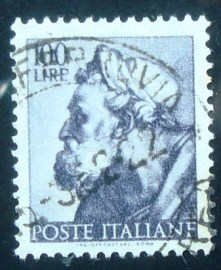 Selo postal da Itália de 1961 Head of the prophet Ezekiel