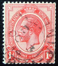Selo postal da África do Sul de 1913 King George V 1