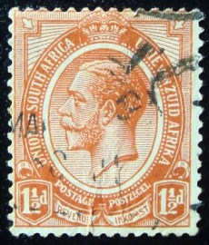 Selo postal da África do Sul de 1920 King George V 1½